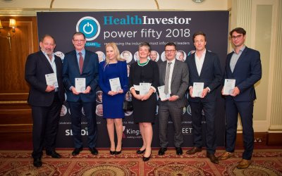 Clare Connell wins Sector Specialist award at 2018 HealthInvestor Power 50