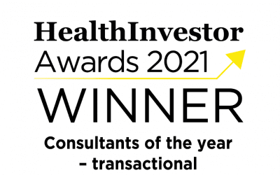 Connell Consulting are delighted to have won the HealthInvestor Award forConsultantsof the year – transactional in 2021.